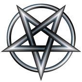 Metallic pentagram sketch — Stock Vector