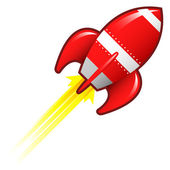 Retro rocket sketch — Stock Vector