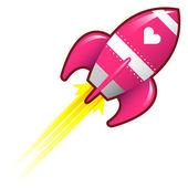 Love rocket — Stock Vector