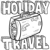 Holiday travel vector sketch — Stock Photo