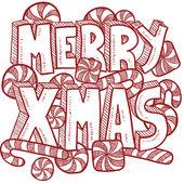 Merry Christmas message vector — Stock Photo