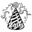 New Year&#039;s 2016 sketch - Stock Photo