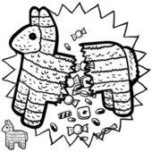Mexican pinata sketch — Stock Photo