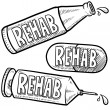 Drug and alcohol rehab sketch — Stock Photo