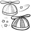 Propellor beanie sketch - Stock Photo