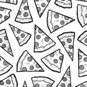Seamless pizza vector background — Stock Photo