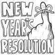 New Year's resolution sketch — Vector de stock