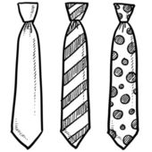 Necktie sketch — Stock Vector