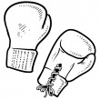 Boxing sketch - Stock Vector