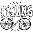 Royalty-Free Stock Vector Image: Bicycle sports sketch