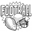Royalty-Free Stock Vector Image: American football sketch