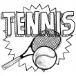 Stock Vector: Tennis sketch