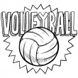 Volleyball sketch - Stock Vector