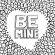 Be mine Valentine's Day sketch - Vettoriali Stock
