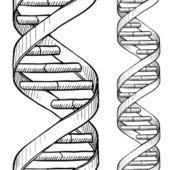 Seamless DNA double helix pattern — Vettoriale Stock