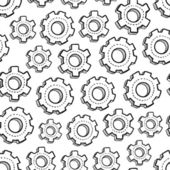 Seamless mechanical gear background — Stock Vector