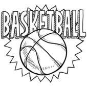 Basketball sketch — Stock Vector