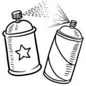 Spray paint can sketch — Stock Vector