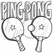Stock Vector: Ping pong sketch