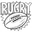 Rugby sports sketch — Stock Vector