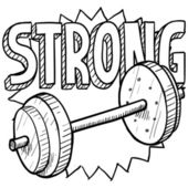 Weightlifting sketch — Stock Vector