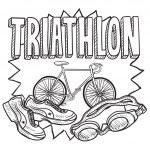 Triathlon sketch — Stock Vector #21993715