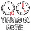 Time to go home work day sketch — Stock Vector