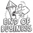 End of business sketch — Stock Vector