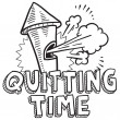 Quitting time sketch — Stock Vector #21993785