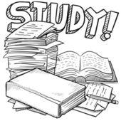School study sketch — Stock Vector