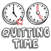 Quitting time sketch — Stock Vector