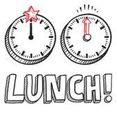 Lunch break sketch — Stock Vector