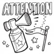 Attention announcement sketch — Stock Vector