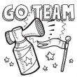 Go team announcement sketch — Stock Vector
