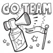 Stock Vector: Go team announcement sketch