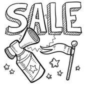 Retail sale announcement sketch — Stock Vector