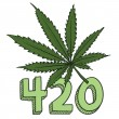 420 marijuana sketch — Stock Vector
