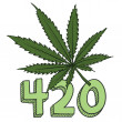 Stock Vector: 420 marijuansketch