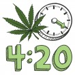 Time to smoke marijuana sketch — Stock Vector