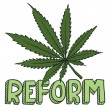 Marijuana law reform sketch - Stock Vector