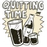 bosquejo de alcohol tiempo dejar de fumar — Vector de stock