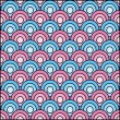 Seamless Japanese wave pattern .Vector. — Stock Vector