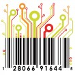 Stok Vektör: Abstract concept barcode background. Vector.