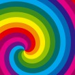 Rainbow swirl background. Vector. — Stock Vector