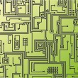 Circuit board background. Vector. — Vector de stock #14067127