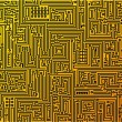 Circuit board background. Vector. — Vettoriali Stock