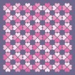 Seamless hearts pattern. Vector. — ベクター素材ストック