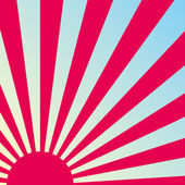 Abstract retro Japanese sunrise background. Vector. — Stockvector