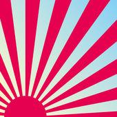 Fondo japonés retro abstracto del amanecer. vector. — Vector de stock