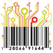 Abstract concept barcode background. Vector. — Stock Vector